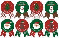 80 шт. винтаж новогодние товары тема серии значок дизайн Сделай сам многофункциональный подарок печать стикеры этикетка
