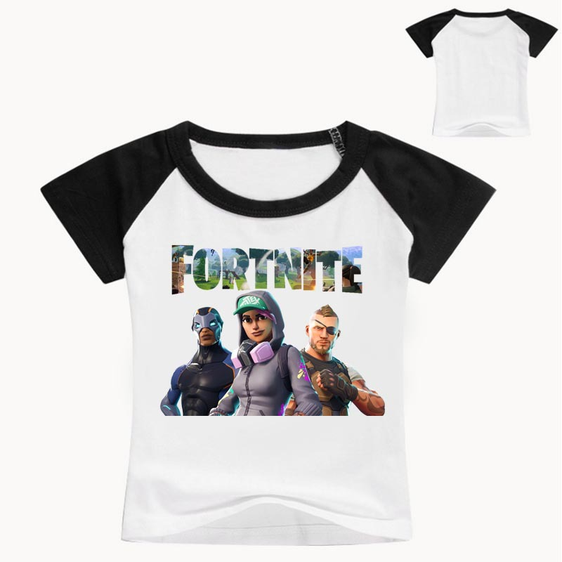 3-14T Game Fortnite Tees Casual Short Sleeve T Shirt Kids Children Comfortable Clothes T-shirt Boy Girls Costume Sports Outfits