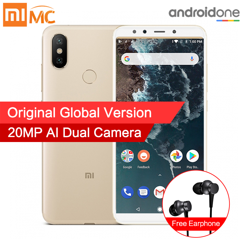 En Stock versión Global Xiao mi A2 6 GB 128 GB Smartphone 20.0MP AI Cámara Dual 5,99