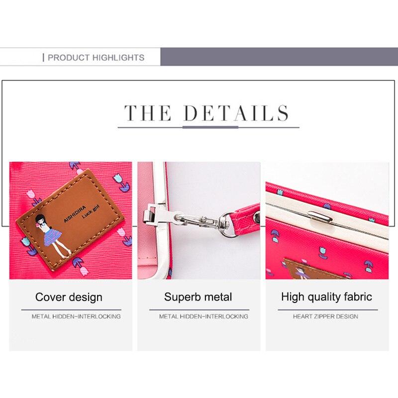 2018 Cute Casual Long Wallet Mobile Phone Bag Flower Wallet Zipper Buckle Packet Purse Clutch  WML99