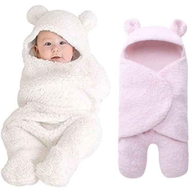 72d81cbc05d Newborn Baby Boy Girl Swaddle Blanket Sleeping Bag Wrap Plush Receiving  Blanket For Photo Prop Shot