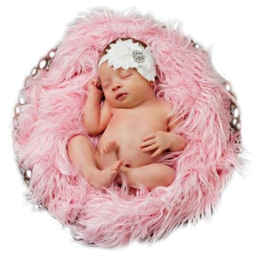 Для новорожденных Искусственный мех фотографии реквизит для фотосессии Одеяло корзина пи ...