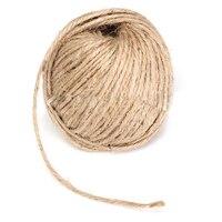 3 ММ Толщиной Коричневый Деревенском Гессиана Шпагат Шнур Веревка Для Ручной Craft 250 М