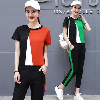 42d8b41c1d Las mujeres 2 piezas conjuntos 2019 traje chándal ropa deportiva fitness co-ord  conjunto top