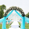 75cm Wide 20m/lot Wedding Sheer Organza Fabric Roll Wedding DIY Craft Tulle Roll 20 Meter for Wedding Party Decor 18 Color