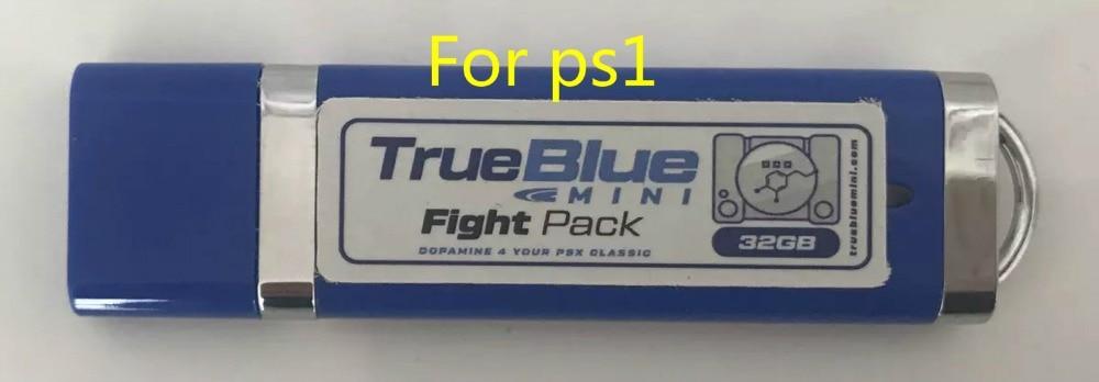 true blue mini Fight Pack 32GB with 58 gamesMETH PACK 64gb with 101 gamesCRACKHEAD PACK 64GB with 101 games for ps1 console