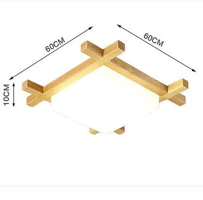 Nordic Wooden LED Ceiling Lights Glass Modern Concise Ceiling Lamp Wood Fixtures For Home Lightings Bar Cafe Reading Room