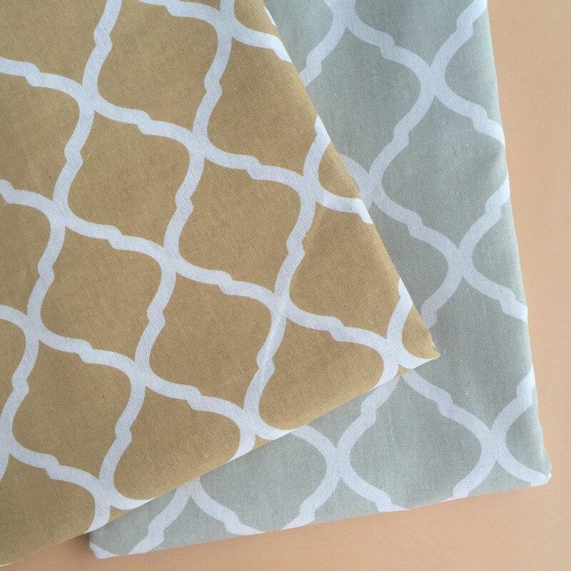 BIG LY 50x150cm Cotton Linen Fabric Print Geometric ...