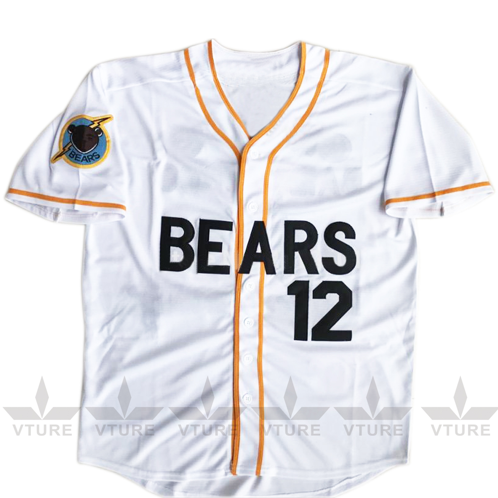 VTURE Stitched Bad News Bears #12 Tanner Boyle Movie White Baseball jersey W S-2XL Free  ...