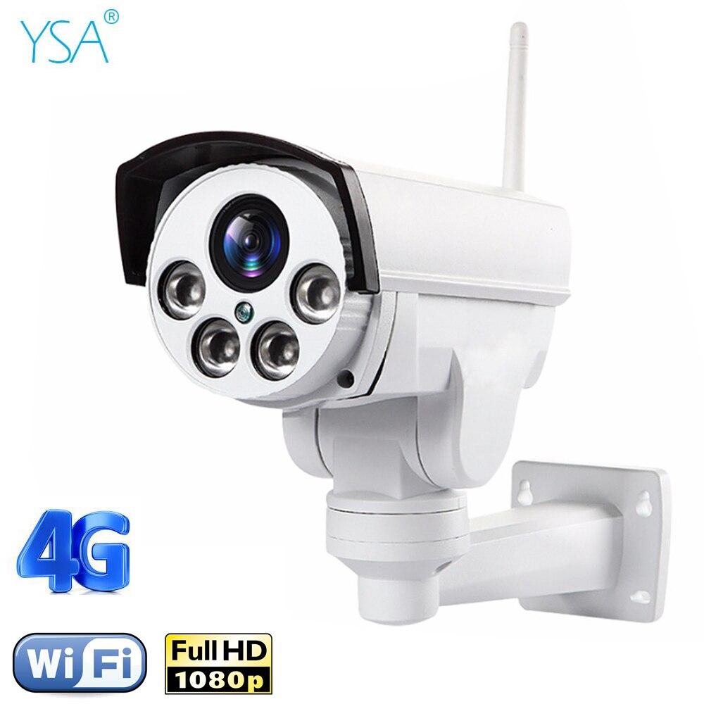 HD1080P Wifi 3g 4g SIM PTZ 5X Zoom Водонепроницаемая камера с поддержкой Макс 128G ночного видения 50 метров p2p наружная CCTV камера безопасности
