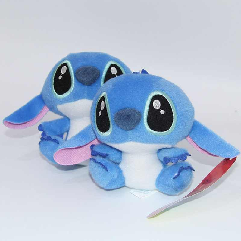 Kawaii ponto brinquedos de pelúcia boneca anime lilo e ponto recheado brinquedos de pelúcia para crianças bonito stich crianças presente de aniversário presente de ano novo