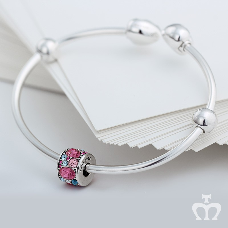 48d2ec5888095 T400 charms&beads new design heart shape 925 sterling silver bangles ...