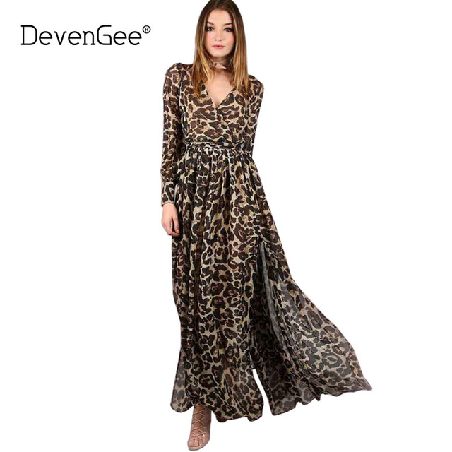Long Leopard Maxi Dress