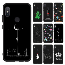 купить Silicone TPU Phone Case for Xiaomi Redmi Note 6 5 Pro 7 8 6A 5A S2 Lovely Space Pattern Painted Case for Redmi 5 Plus 6 Pro 4X дешево