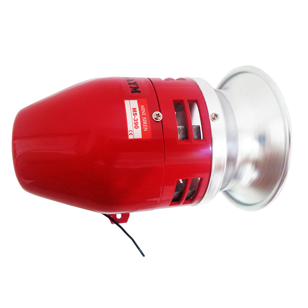 AC 220V 130dB MS-390 Mini Motor Driven Air Raid Siren Horn Car Truck Alarm dc 24v mini motor driven air raid siren horn for car truck alarm ms 390