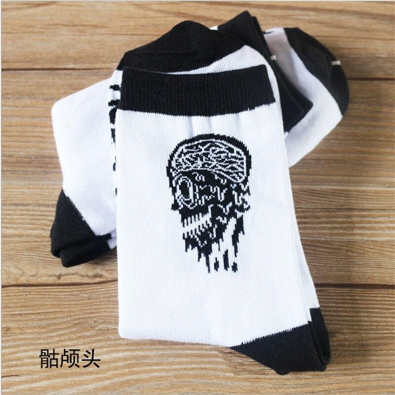 New High Quality Spring Summer Men Brand Socks Fashion Mens Socks Cotton Skull Male Socks Men Free Shipping