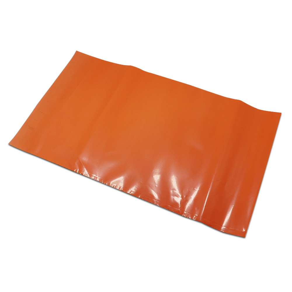 2 Sizes Orange Self Adhesive Transport Express Plastic Packaging Bag For Protect Goods Mailer Envelope Mail Pouches Poly Pouch