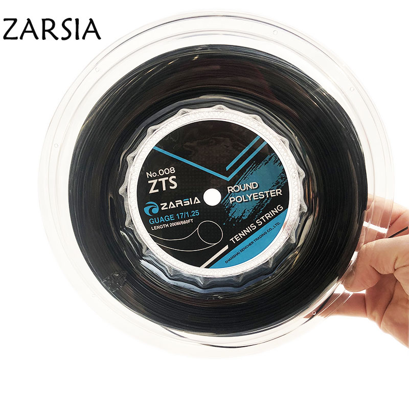 1 Pc ZARSIA Polyester Tennis Racket String 1.25mm/1.3mm Durable Tennis Racquet Strings Round Training Strings 200M Big Reel
