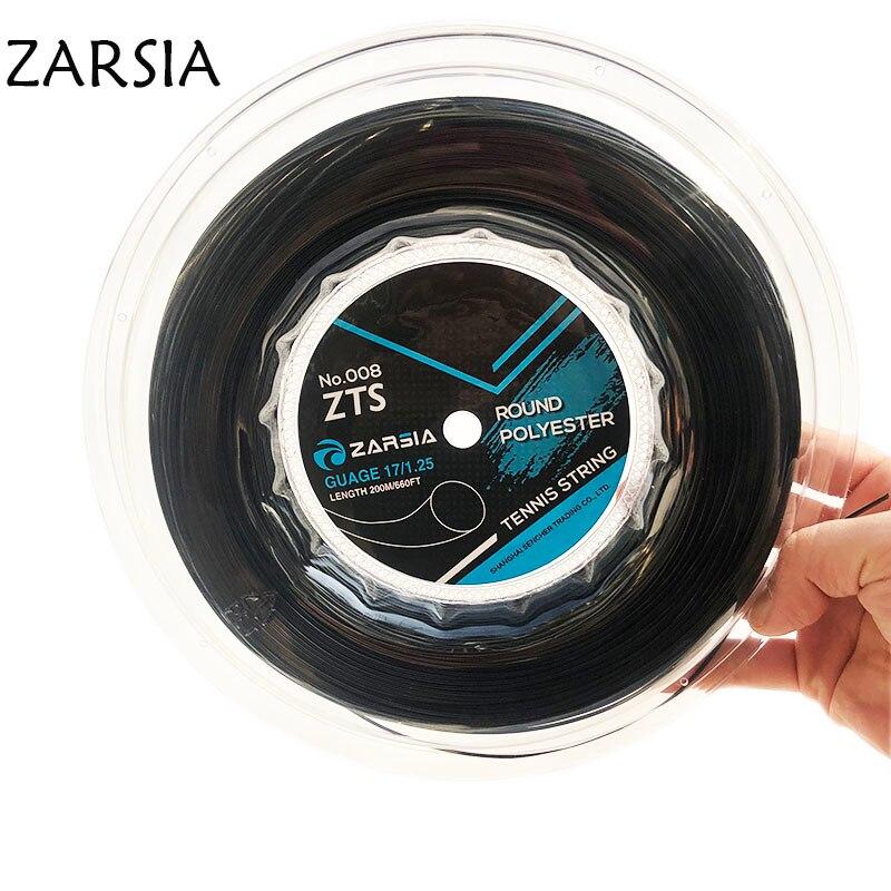 1 Pc Zarsia Polyester Tennis Schläger String 1,25mm/1,3mm Durable Tennis Schläger Saiten Runde Ausbildung Saiten 200 M Big Reel SchnäPpchenverkauf Zum Jahresende