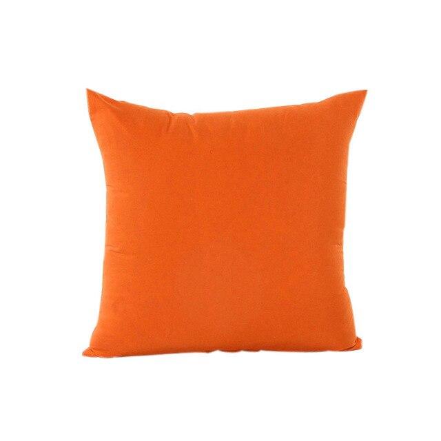 2018 Home Decor Pillow Case Cotone Lino Cuscino Copertura Della Banda Arancione