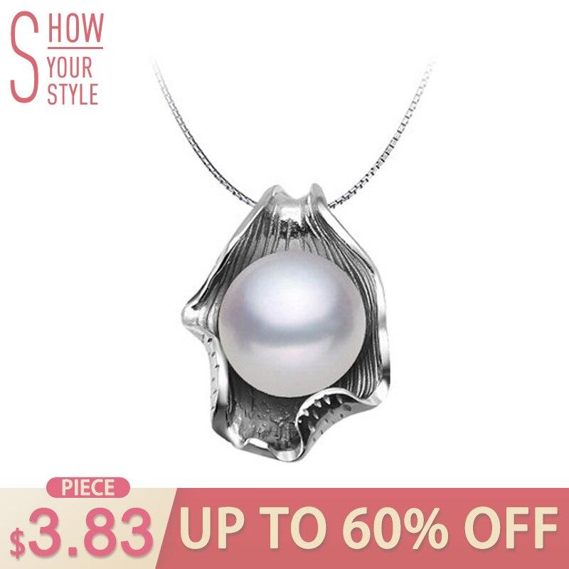 ZHBORUINI gyöngy nyaklánc gyöngy ékszerek 925 ezüst ékszer nők - Divatékszer