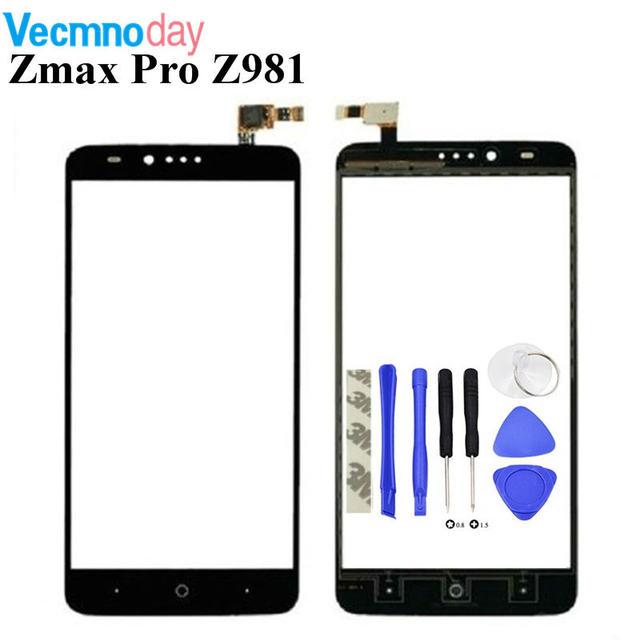 Vecmnoday 6.0'' Mobile Phone Touch Screen For ZTE Zmax Pro Z981 Sensor Front Glass Digitizer Panel Sensor Lens Touchscreen Part