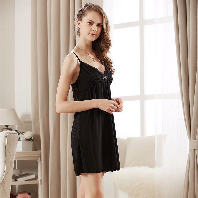 80e0c9500a6 2017 Summer Lace BRA Sexy Lingerie Lady Night Dress Women Nylon Camisole  Princess Nightgown Home Dress Sleepwear Plus Size-in Nightgowns    Sleepshirts from ...