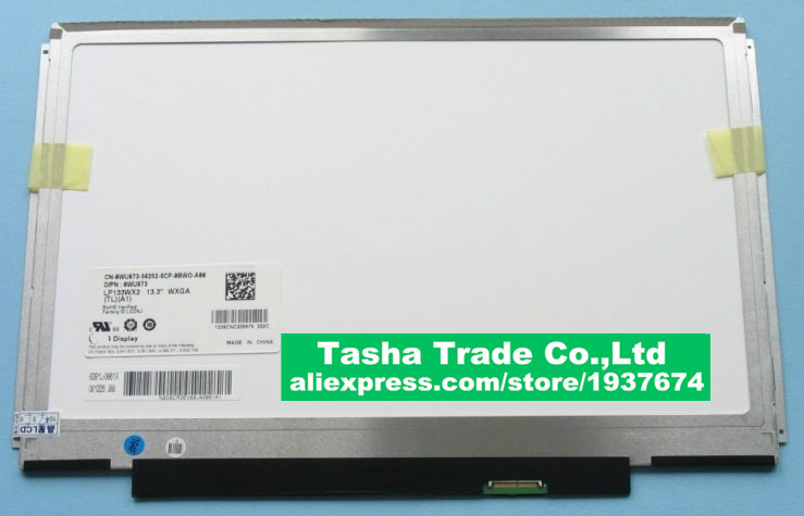 For Dell XPS M1330 1340 LCD Display Screen LP133WX2 TLA1 LP133WX2 (TL)(A1) 1280*800 40Pins WXGA quying lp133wx2 tl a1 13 3 wxga for dell latitude e4300 notebook laptop lcd screen replacement display