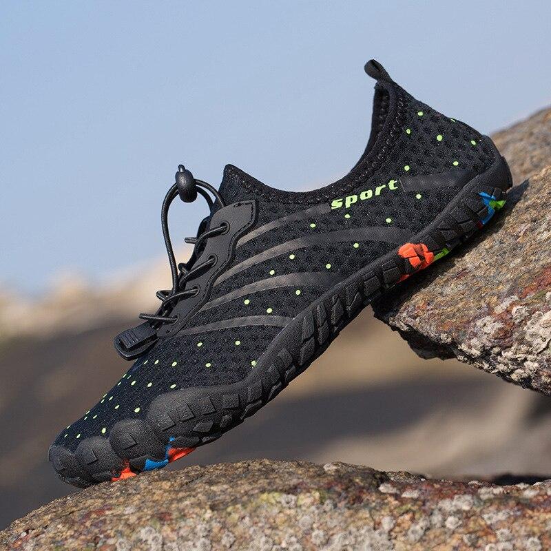 novo verao dos homens sapatos de agua das mulheres sapatos de praia respiravel upstream tenis descalcos