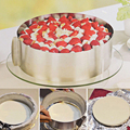 Retractable Stainless Steel Pastry tools Circle Mousse Ring Baking Tool Set Size Adjustable Bakeware Cake Mould Mold Tools