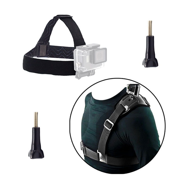 Élastique Harnais Tête sangle d'épaule ceinture pectorale vis Pour GoPro Hero6 5 3 4 Session SJCAM SJ4000 SJ7000 Xiaoyi Yi 4 K caméra
