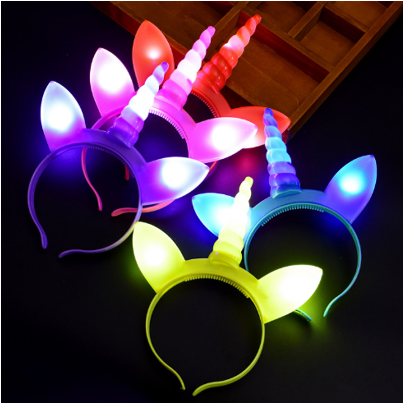 Glow Party Supplies Led Light Up Flash Headband Christmas Light Hair Accessories Party Led Party Supplies Gifts for The New Year