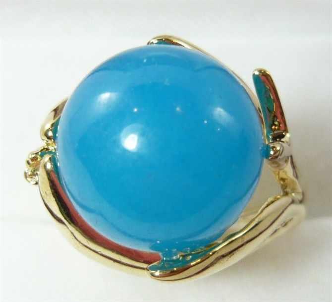 ขายส่ง noble 14 มม. หยกธรรมชาติ fine แหวนแฟชั่น (#7.8.9)
