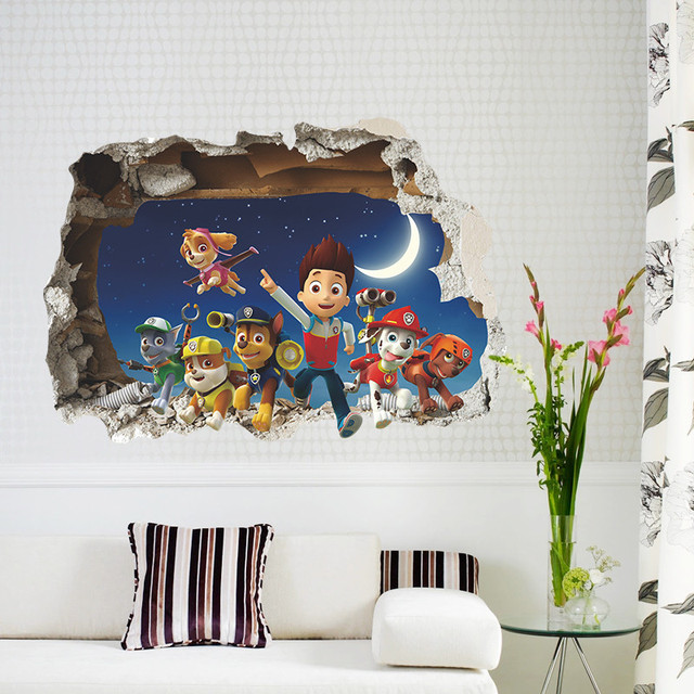 Window Cartoon wall stickers for kids rooms home decor living room Bedroom diy mural art decals removable wallpaper Poster
