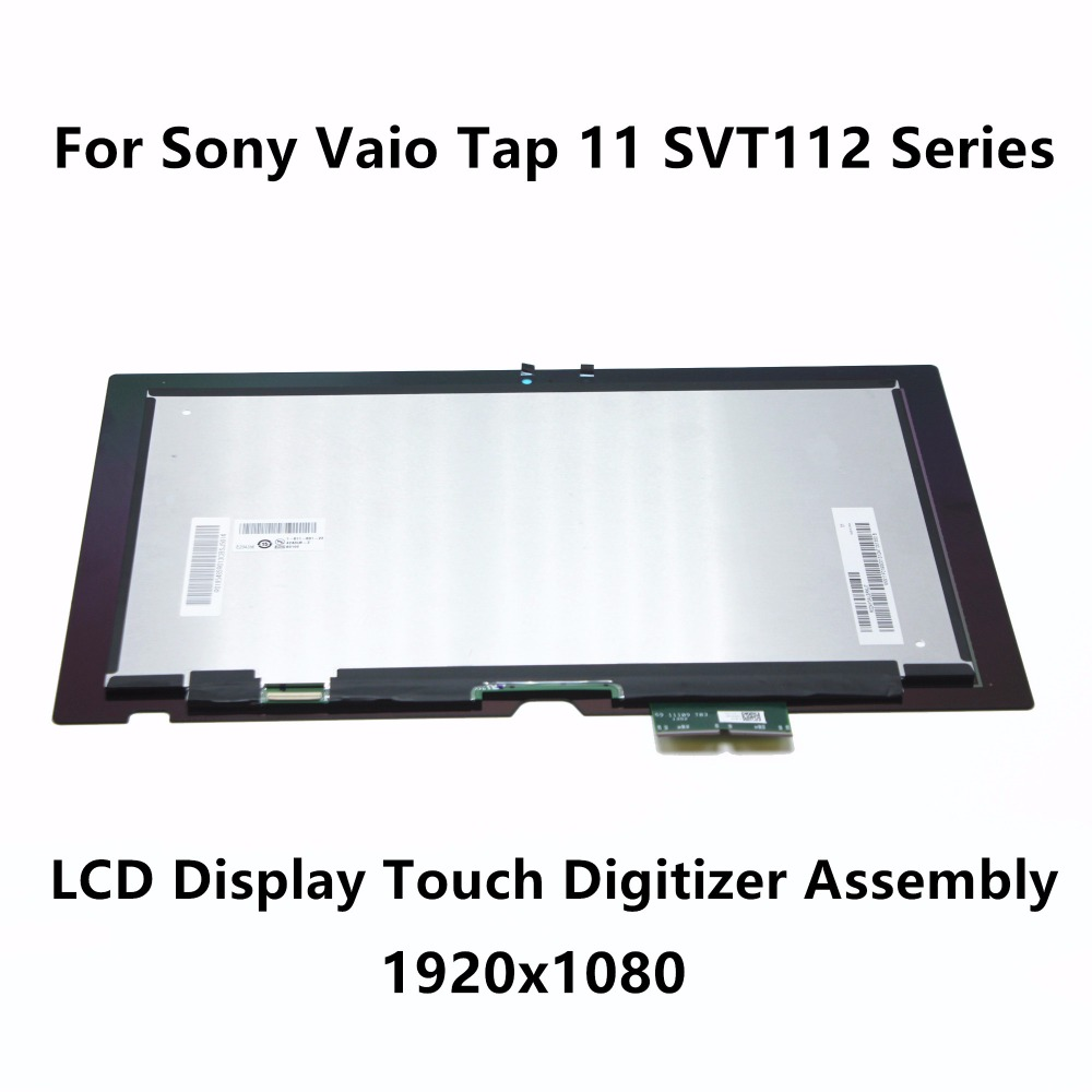 Full LCD Display Touch Digitizer Screen Assembly VVX11F019 For Sony Vaio Tap 11 SVT112 Series SVT112A2WL SVT11213CXB SVT1122M2EW new 11 6 for sony vaio pro 11 touch screen digitizer assembly lcd vvx11f009g10g00 1920 1080