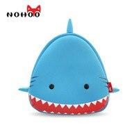 NOHOO Hayvanlar Çocuklar Bebek Çantaları 3D Köpekbalığı Su Geçirmez Çocuk Okul çanta Kız Erkek Çocuklar Için Sevimli Gerçek 3D Karikatür Için çocuklar
