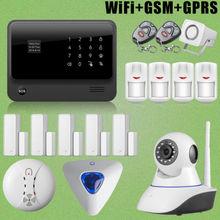 Chuangkesafe G90B Wirelss WiFi GSM GPRS Sistema de Intrusión Sirena de Destello + HD Cámara IP