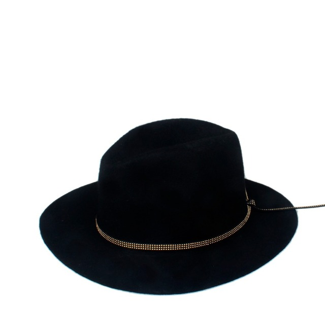 c818b3b5cf9 Fashion 100% Woolen Summer Winter Women s Men s Fedora hat Crushable  Genuine Felt Sun Cap Trilby Gorra Toca Sombrero panama hat