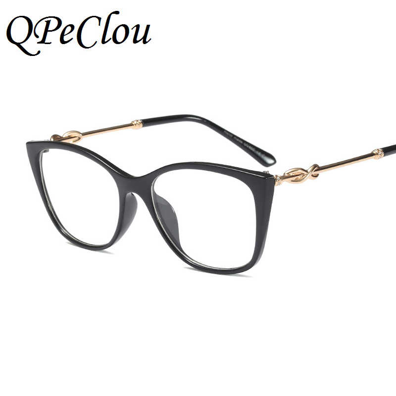 38774bafca72e ... QPeClou Vintage Cat Eye Glasses Frame Women New Brand Decorative Clear  Lens Glasses Female Cateye Eyeglasses ...