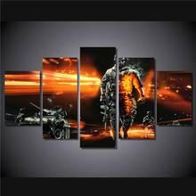 Hd Gedruckt Battlefield Soldaten Tanks Malerei Leinwanddruck Raumdekor Poster Drucken Bild Leinwand Freies Verschiffen/Ny-4585 größe 1