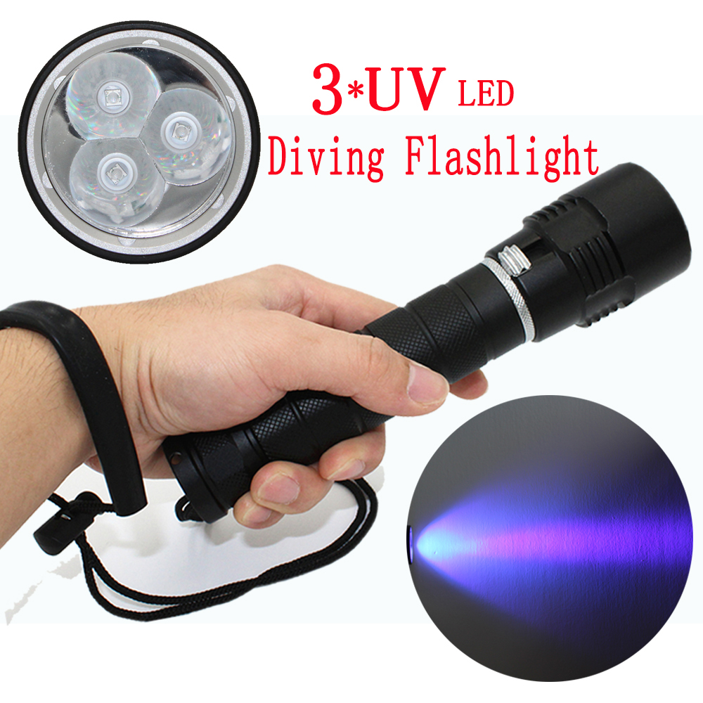 Temperate Waterproof 10w Ultraviolet 3 X Uv Led Light Lantern Diving Flashlight Purple Light Lamp Torch Use 22650 Battery To Win A High Admiration And Is Widely Trusted At Home And Abroad. Led Lighting