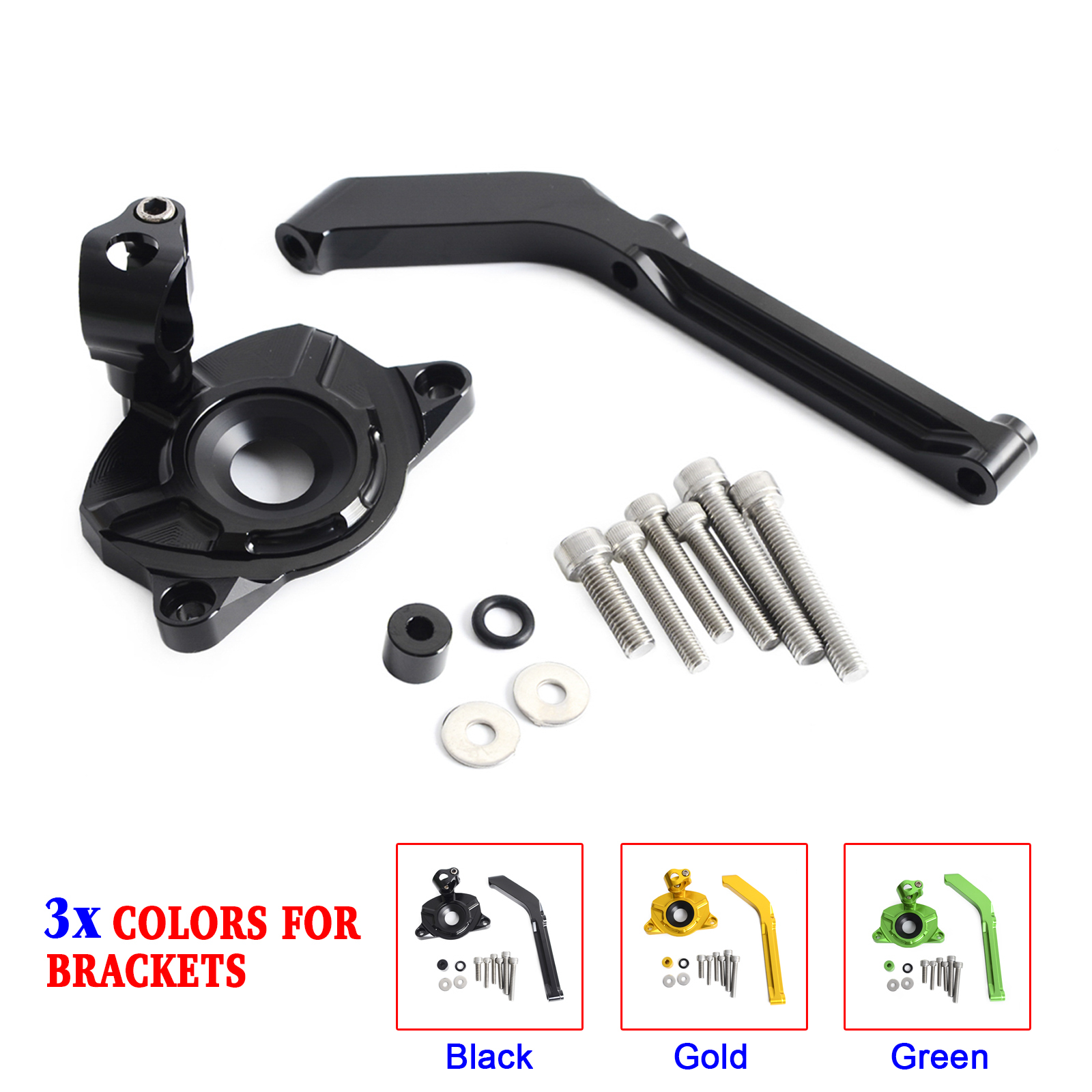 NICECNC Motorcycle Steering Damper Mounting Bracket for Kawasaki Z1000 ABS 2014 2015 2016 2017 Z 1000 (Not Fit Z1000SX)