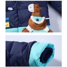cartoon baby boys girls winter warm down jacket suit set