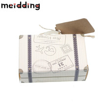 MEIDDING 50pcs Retro Airplane Suitcase Candy Gift Box Birthday Party Table Wedding Decoration Party Favors and Gifts Supplies