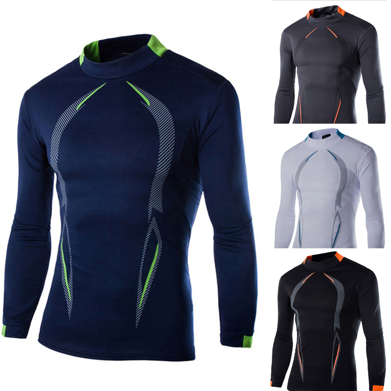 2015 4 color Print Bi-arc Compression Base Layers Mens T Shirts Long sleeve Fit Skins Gear Thermal Tops Tee
