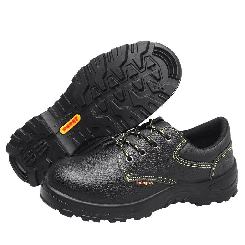 Hommes Cheville Travail Aa51609 Au D'assurance Bottes Du crevaison Male Noir Anti Casual Chaussures Sécurité D'hiver Adulte Cuir En De Caoutchouc 7Ewr7qpUB