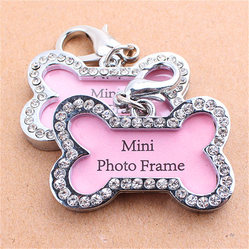 Lovely Personalized Stainless Steel Pet Dog Tag Diamond Bones Shaped - Ապրանքներ կենդանիների համար