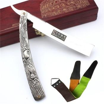 Retro Danerous Barber Razor Stainless Wood Face Body Shaving Razor for Women Men Navaja De Afeitar Material Para Depilar 1