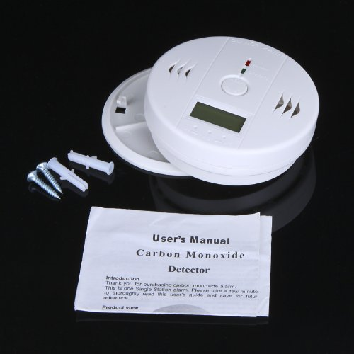 SmartYIBA 60pcs/Lot 85dB LCD CO Gas Sensor Carbon Monoxide Independent Poisoning Alarm Detector Tester for Home Security