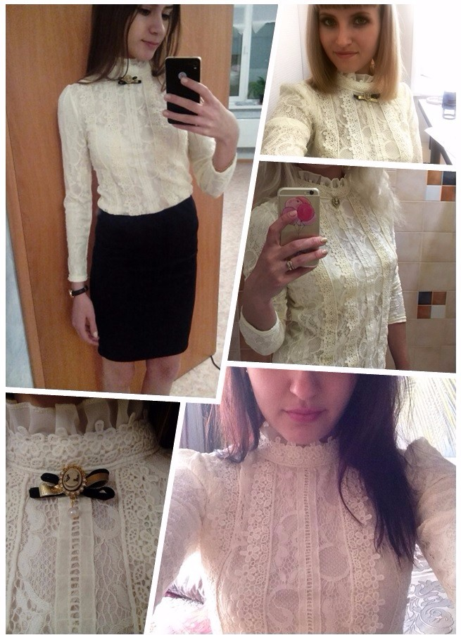 HTB1Tst5LXXXXXbyXpXXq6xXFXXXX - New Lace Shirt Women Clothing Blusas Femininas Blouses